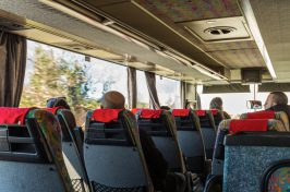 Passengers on Atlas shuttle bus from Dubrovnik airport