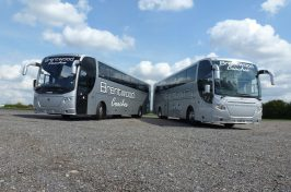 Show Picture Of 2 Silver Coaches